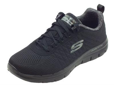 Scarpe Skechers Sportive per uomo in tessuto nero memory foam