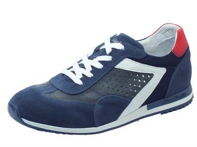 Articolo Scarpe sportive NeroGiardini per uomo in camoscio blue e grigio