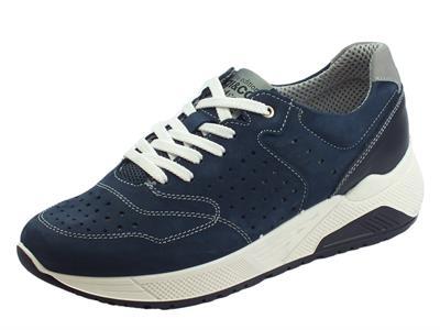 Articolo Scarpe sportive per uomo Igi&Co in nabuk blu sottopiede memory foam