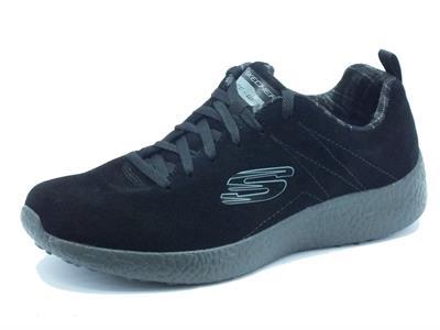 Articolo Scarpe sportive per uomo Skechers Sport Burst Koopy in camoscio nero