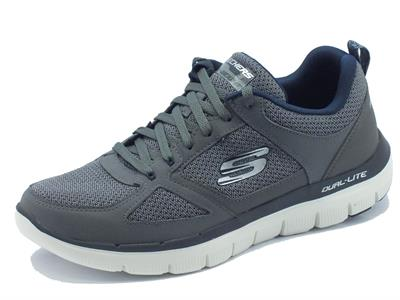 Articolo Scarpe sportive Skechers Air-Cooled Memory Foam per uomo in tessuto grigio