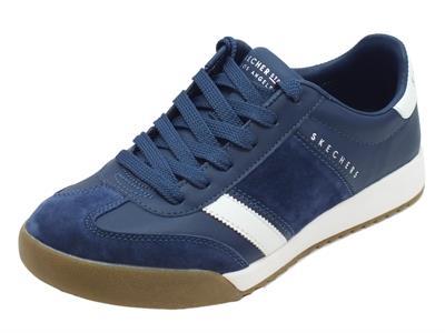 Scarpe sportive Skechers Los Angeles per uomo in camoscio blu