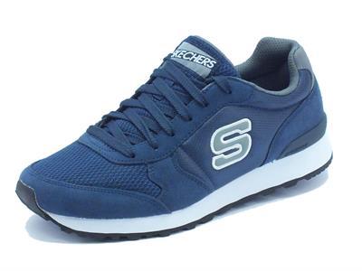 Scarpe sportive Skechers Originals per uomo in tessuto blu