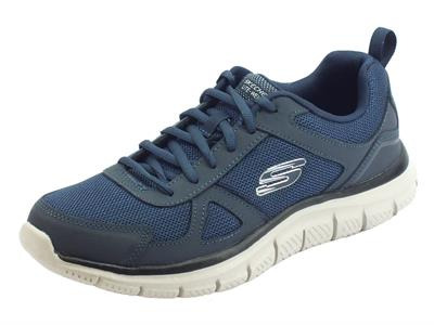 Scarpe Sportive Skechers TRACK SCLORIC per uomo in tessuto blu scuro