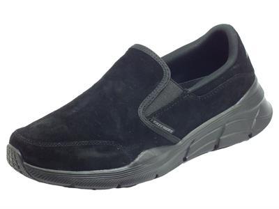 Articolo Skechers 232019/BBK Equalizer 4.0 Myrko Black Mocassini Sportivi Uomo nabuk memory foam