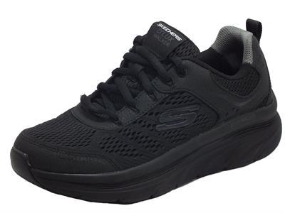 Articolo Skechers 232044/BBK D'Lux Walker Black Scarpe sportive per uomo in tessuto con memory foam