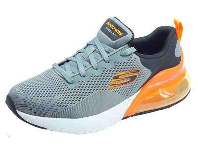 Skechers 232056/lgbk Skech-Air Stratus Maglev Light Gray Black Scarpe Sportive Uomo memory foam