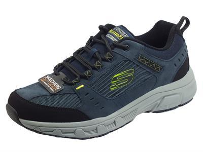 Articolo Skechers 51893/NVLM Oak Canyon Navy Lime Scarpe Sportive per Uomo in tessuto e nabuk