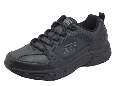 Skechers 51896/BBK Oak Canyon Redwick Black Scarpe Sportive per Uomo in pelle e sintetico