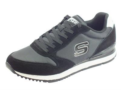 Articolo Skechers Originals 52384/BLK Sunlite Waltan Black Scarpe Sportive Uomo in nabuk e tessuto