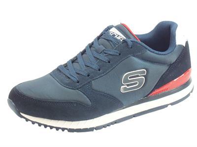 Skechers Originals 52384/NVY Sunlite Waltan Navy Scarpe Sportive Uomo in nabuk e tessuto