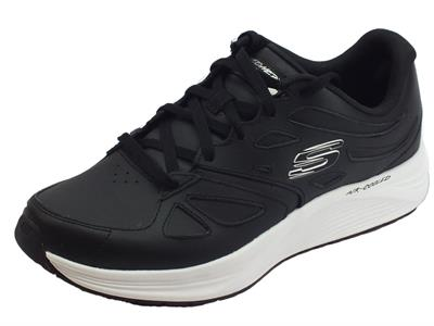 Skechers Skyline Woodmist Black scarpe sportive uomo in pelle nera