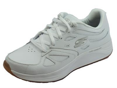 Articolo Skechers Skyline Woodmist White scarpe sportive uomo in pelle bianca
