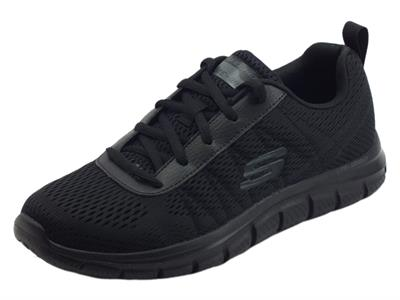 Articolo Skechers Sport 232081 Track Moulton Black Scarpe sportive per Uomo in tessuto nero