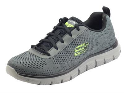 Articolo Skechers Sport 232081 Track Moulton Charcoal Black Scarpe sportive per Uomo in tessuto grigio