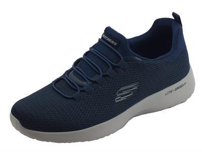 Skechers Sport Dynamight Navy scarpe sportive uomo in tessuto blu calzata veloce