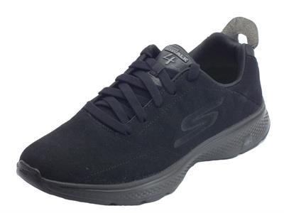 Skechers Sport per uomo in camoscio nero sottopiede goga-max