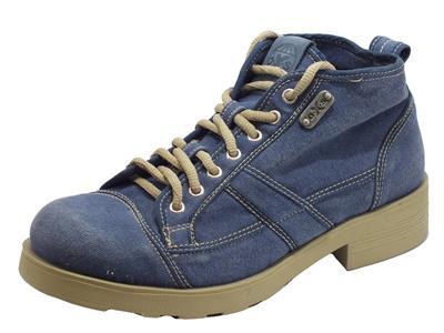 Articolo OXS Frank 1000 Mid M Fabric Blue Scarponcini in tela jeans per Uomo