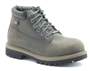 Scarponcini Skechers per uomo water proof in pelle grigio scuro