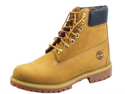 Articolo Timberland 010061 Premium 6 in Waterproof Boot Wheat Nubuck Scarponcini uomo classici