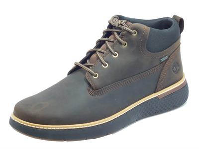 Articolo Timberland 0A1TQL Cross Gtx Chukka Dk Brown Full Grain Scarponcini uomo in pelle ingrassata