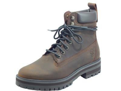 Articolo Timberland 0A2BSR Courma Guy Waterproof Boot Dk Brown Full Grain Scarponcini uomo pelle ingrassata