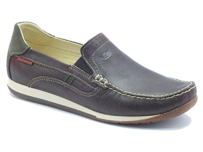 Mocassini Grisport Light Step in pelle testa di moro