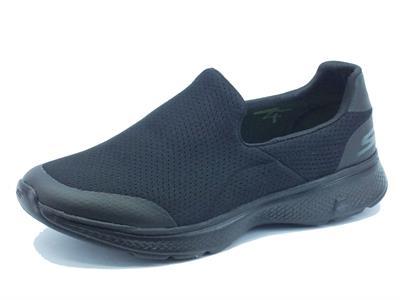 Articolo Mocassini Skechers GO-WALK 4 per uomo in tessuto nero