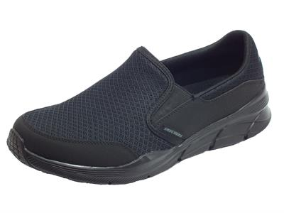 Skechers 232017/BBK Equalizer 4.0 Persisting Black Mocassini Sportivi Donna tessuto con relaxed fit