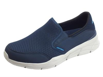 Articolo Skechers 232017/BBK Equalizer 4.0 Persisting Navy Mocassini Sportivi Uomo in tessuto relaxed fit