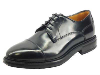 Articolo Mercanti Fiorentini 07724 Abrasivato nero Scarpe Eleganti Classiche per Uomo in pelle