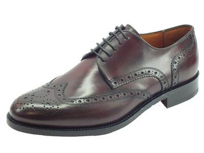 Articolo Mercanti Fiorentini Pegaso CA-55 Bordò scarpe classiche in pelle lavorazione duilio