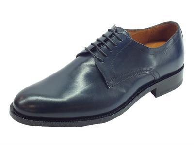Mercanti Fiorentini Pegaso Oceano scarpe classiche per uomo in pelle blu fondo cuoio