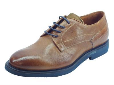 Mercanti Fiorentini Rex Sughero Kaleido Almond scarpe eleganti per uomo in pelle