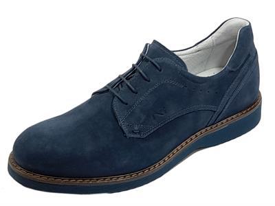 NeroGiardini E101940U Colorado Incanto Scarpe eleganti per Uomo in camoscio blu notte