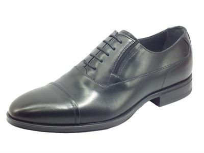 Articolo NeroGiardini I001631U Ilcea Nero Scarpe eleganti per uomo in pelle con lacci ed elastici