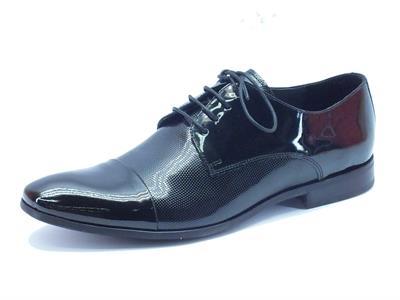 Scarpe da uomo NicolaBenson classiche in vernice lucida nera