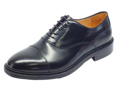 Articolo Scarpe Eleganti Mercanti Fiorentini in pelle abrasivata nera