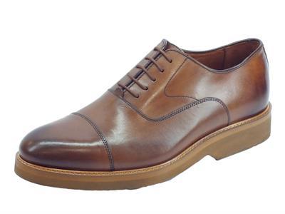 Scarpe Eleganti Mercanti Fiorentini Kenia in pelle brandy lavorazione duilio