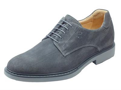 Articolo Scarpe eleganti NeroGiardini per uomo in nabuk grigio effetto microforato