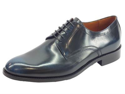 Articolo Scarpe eleganti per uomo Mercanti Fiorentini in pelle abrasivata blu