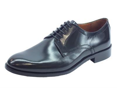 Articolo Scarpe eleganti per uomo Mercanti Fiorentini in pelle abrasivata nera