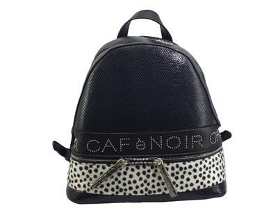 CAFèNOIR FBEA111 475 Nero Bianco Zainetto per Donna in ecopelle e tessuto