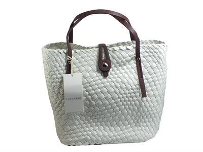 Articolo CafèNoir GBQ 471 Bianco Borsa per donna con manici e borsellino interno in ecopelle