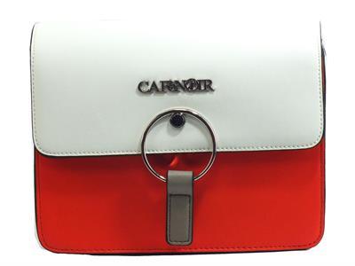Articolo CafèNoir GBV 810 Bianco Rosso Tracollina rigida per donna in ecopelle con pattina