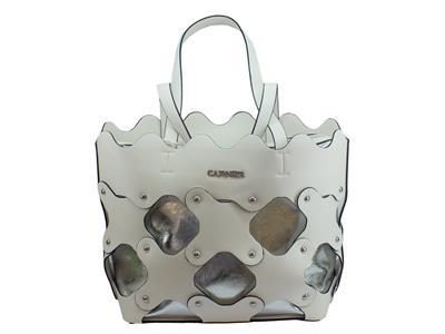 Articolo CafèNoir IBCD491 Bianco borsa con manici bianco ed argento