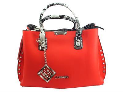 Articolo CafèNoir IBGH841 Rosso borsa con manici e tracollina ecopelle rosso motivo pitonato