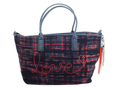 Articolo Desigual 19WAXA85 Inlove Holbox Shopping Bag per donna in tessuto multicolore rosso