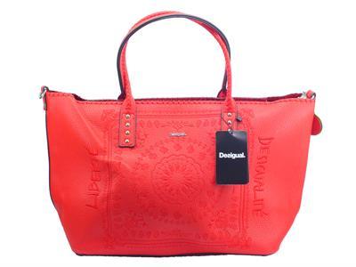 Desigual 19WAXP80 Soft Bandana Holbox Shopping Bag per donna in ecopelle rossa