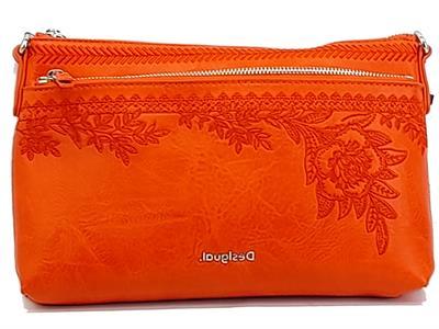 Articolo Desigual 21SAXP89 Bols lytics Durban One Pocket Tracollina minia per Donna in ecopelle arancio